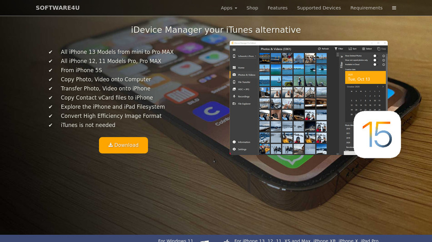 iDevice-Manager Landing Page