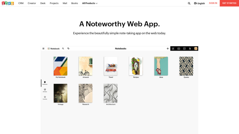 Notebook for Web Landing Page