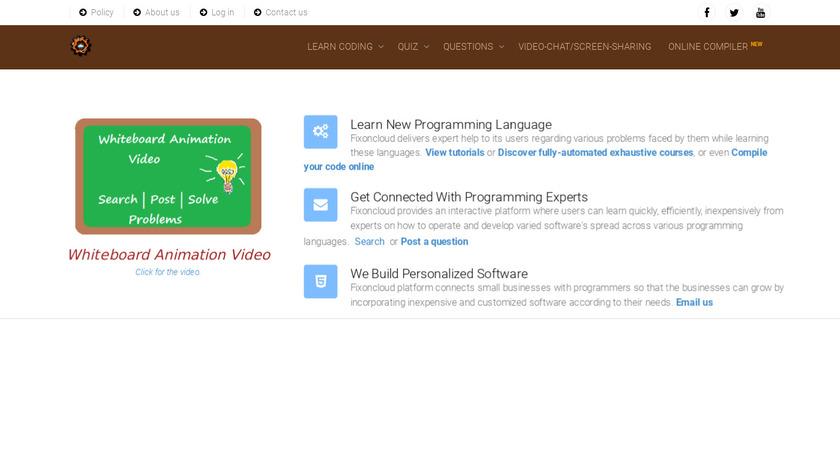 Fixoncloud Landing Page