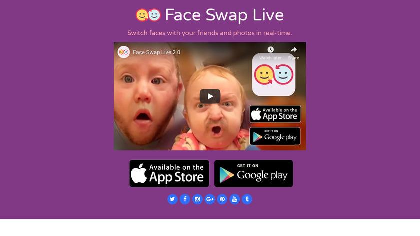 Face Swap Live Landing Page