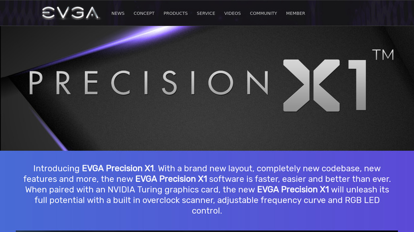 EVGA Precision Landing Page