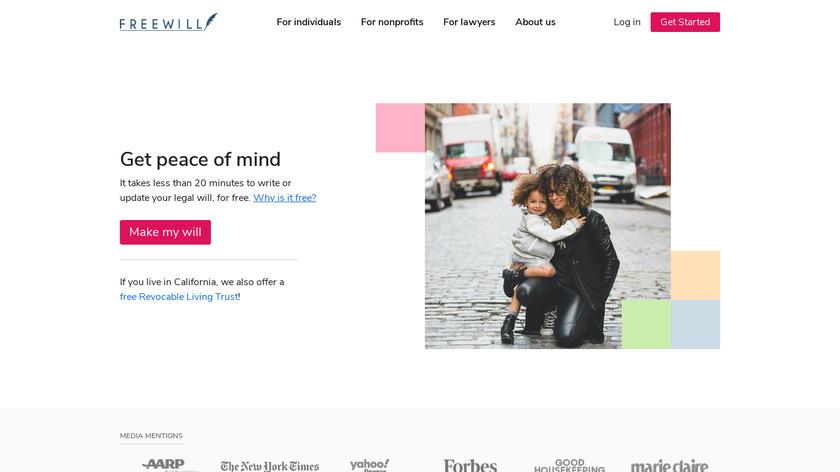 FreeWill Landing Page