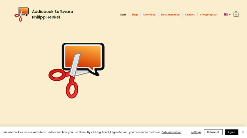 Audiobook Cutter Pro Landing Page