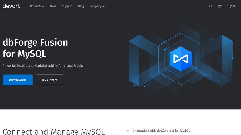 dbForge Fusion for MySQL Landing Page