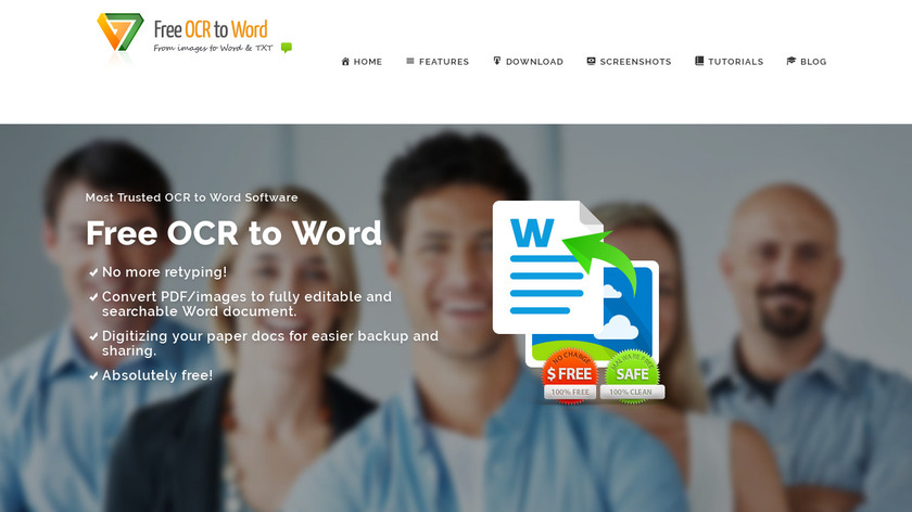 Free OCR to Word Landing Page