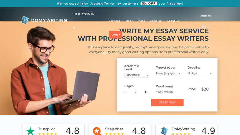 DoMyWriting Landing Page