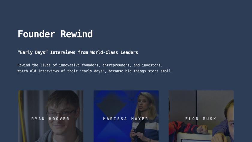 Founder Rewind Landing Page
