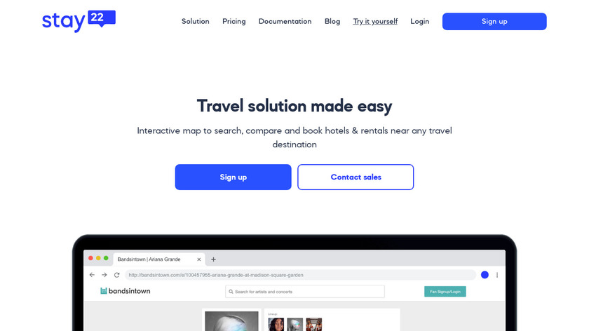 Stay22 Landing Page
