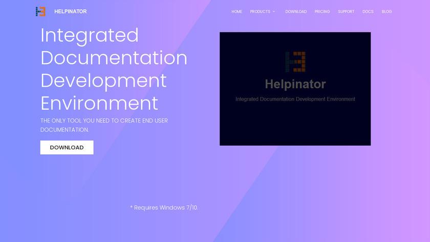 Helpinator Landing Page