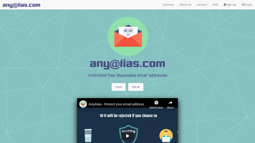 AnyAlias Landing Page