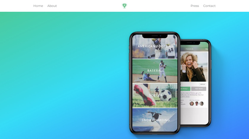 Sporty Landing Page