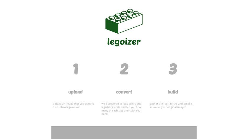 Legoizer Landing Page
