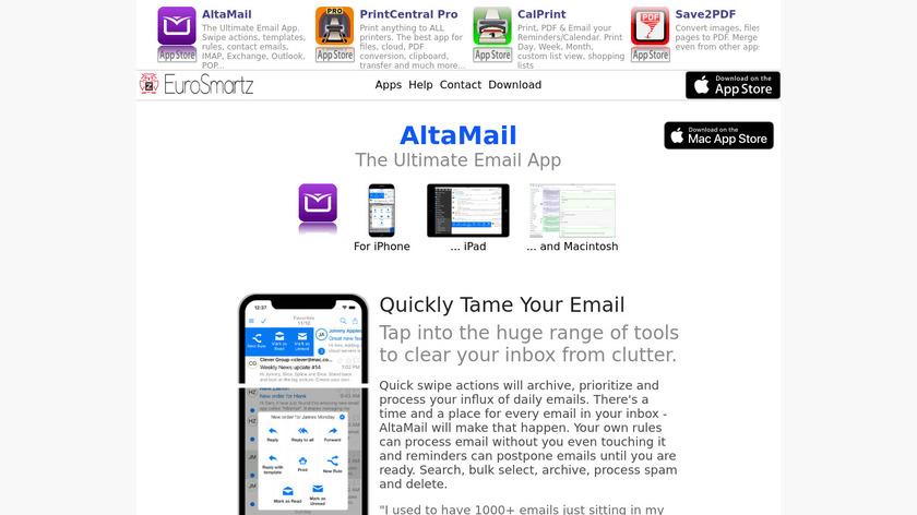 AltaMail Landing Page