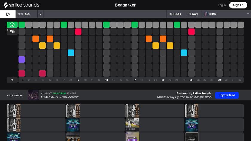 Splice Beat Maker Landing Page