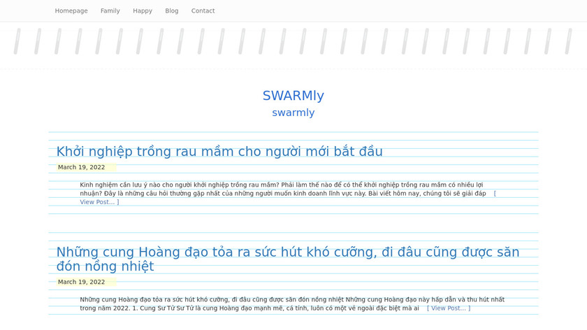 Swarmly Landing Page