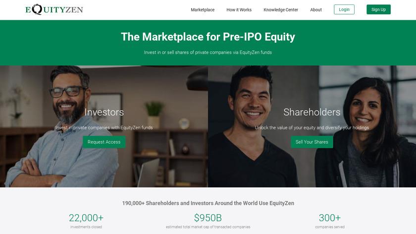 EquityZen Landing Page