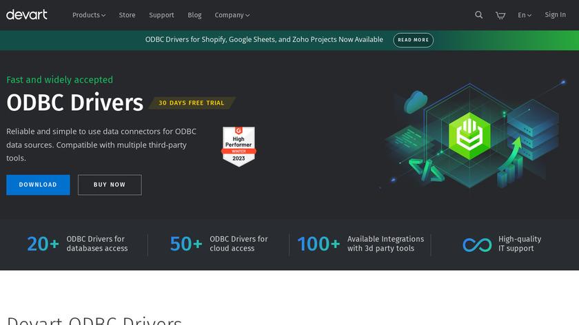 Devart ODBC Drivers Landing Page