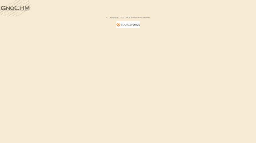 GnoCHM Landing Page