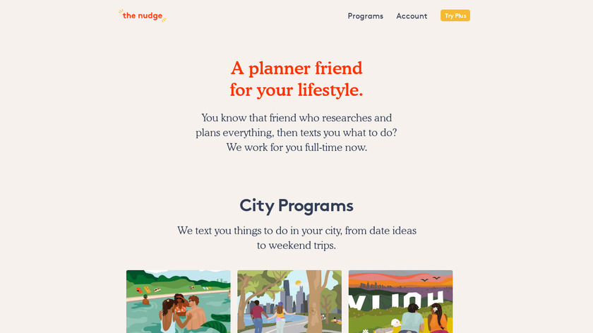 The Nudge Landing Page