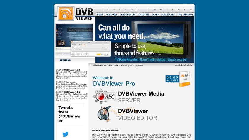 DVBViewer Landing Page