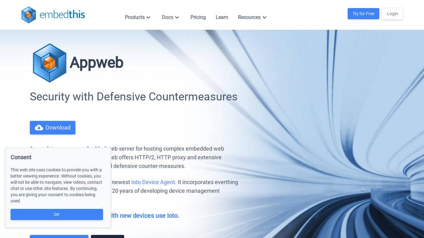 Appweb Landing Page