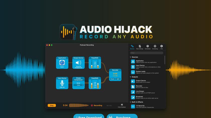Audio Hijack Landing Page
