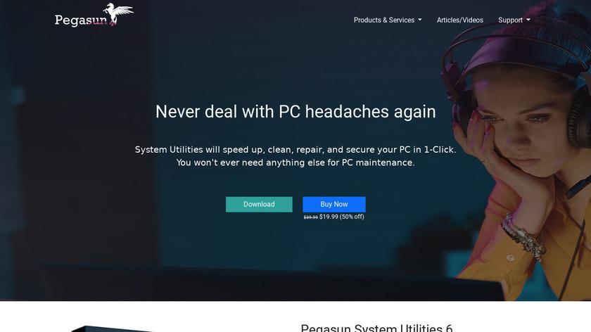 Pegasun System Utilities Landing Page