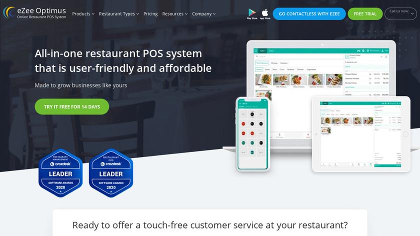 eZee Optimus Landing Page