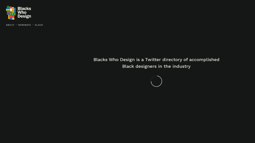 BlacksWhoDesign Landing Page
