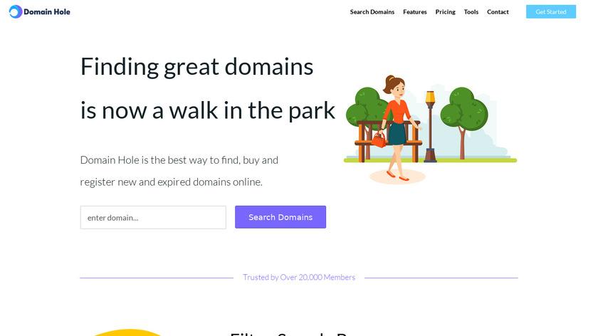DomainHole Landing Page