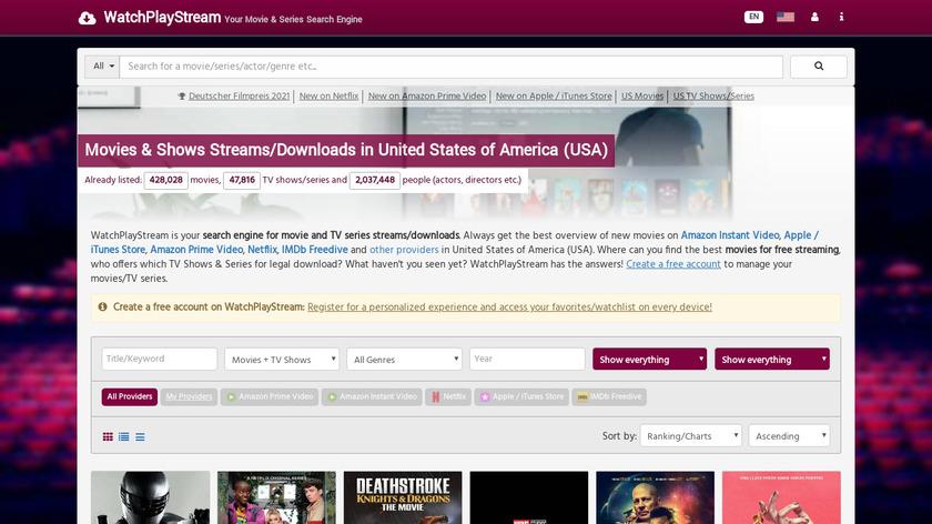 WatchPlayStream.com Landing Page