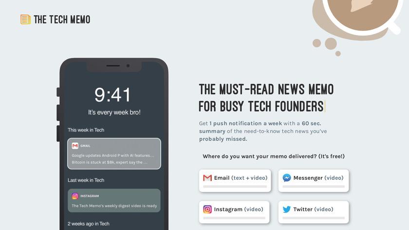 The Tech Memo Landing Page