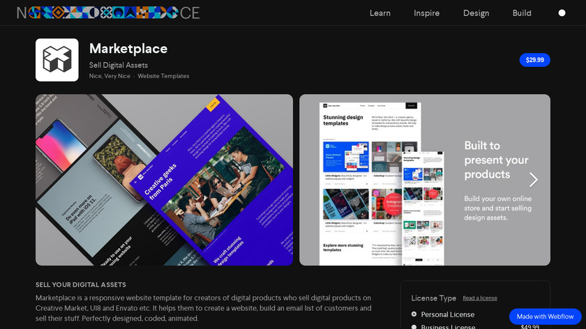 Market Pages Landing Page
