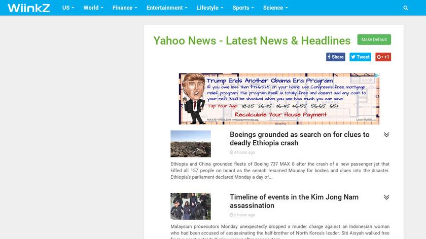 News WiinKz Landing Page