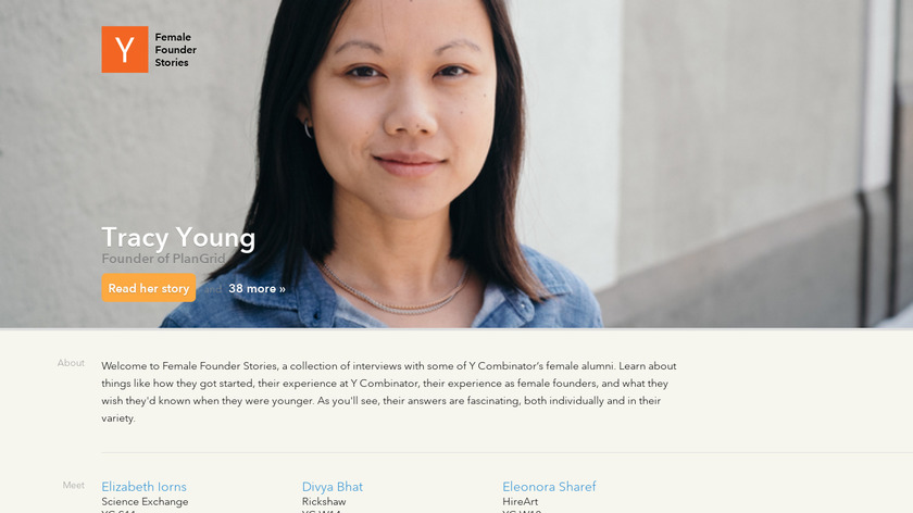 Female Founder Stories Landing Page