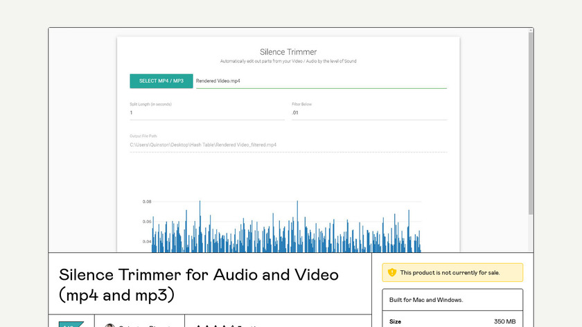 Silence Trimmer Landing Page