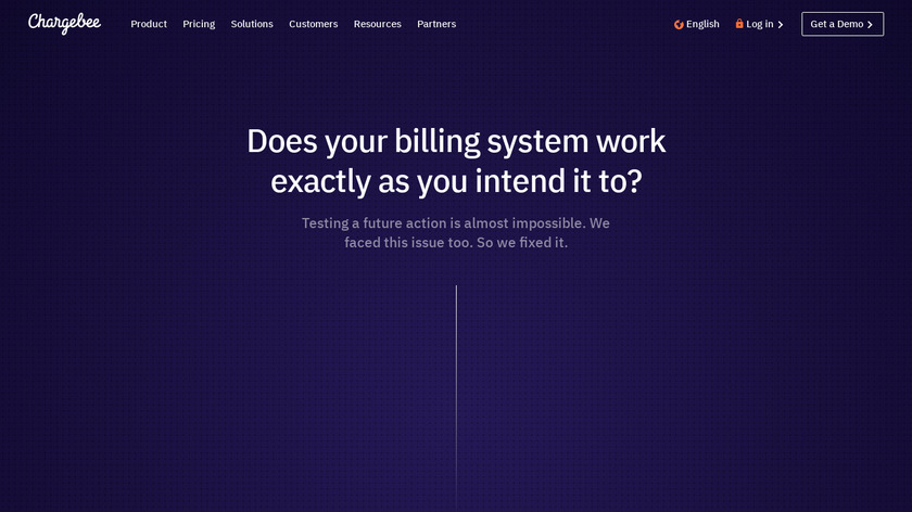 Chargebee Time Machine Landing Page