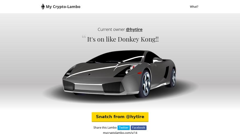 Crypto Lambo Landing Page