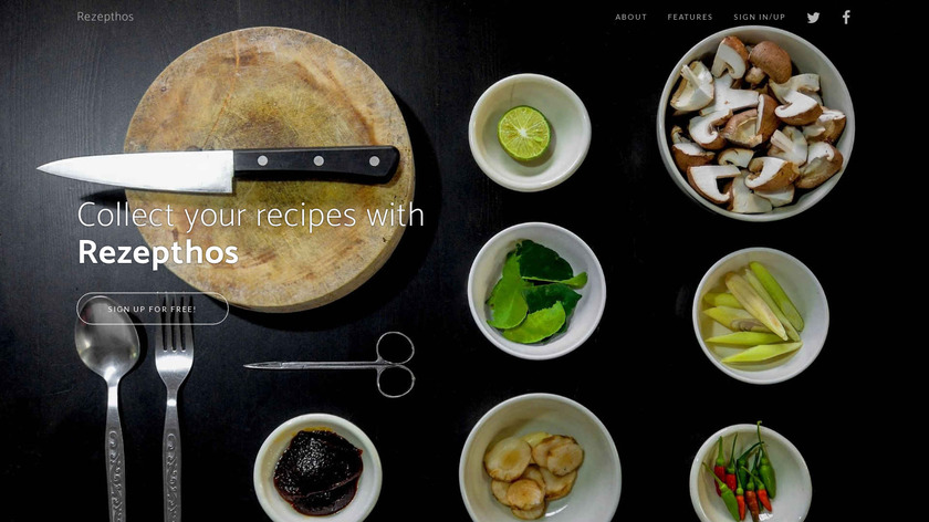 Rezepthos Landing Page