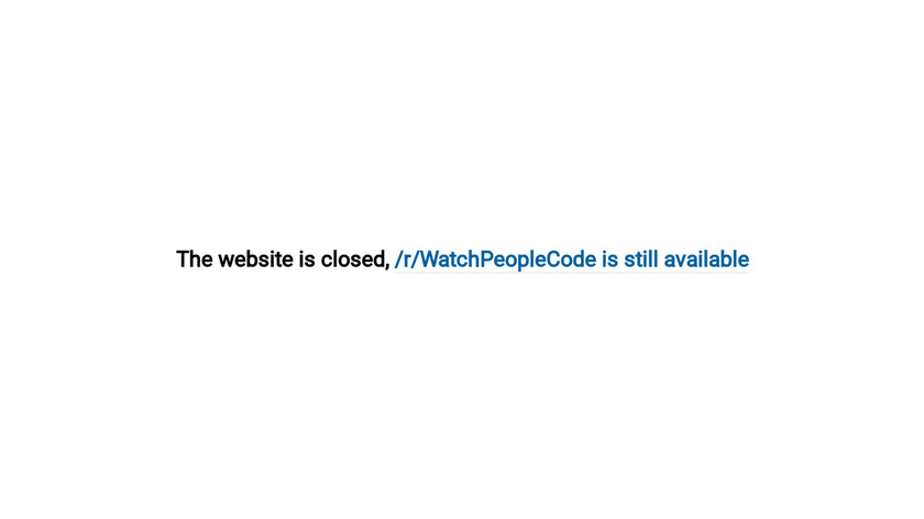 Watch People Code Landing Page