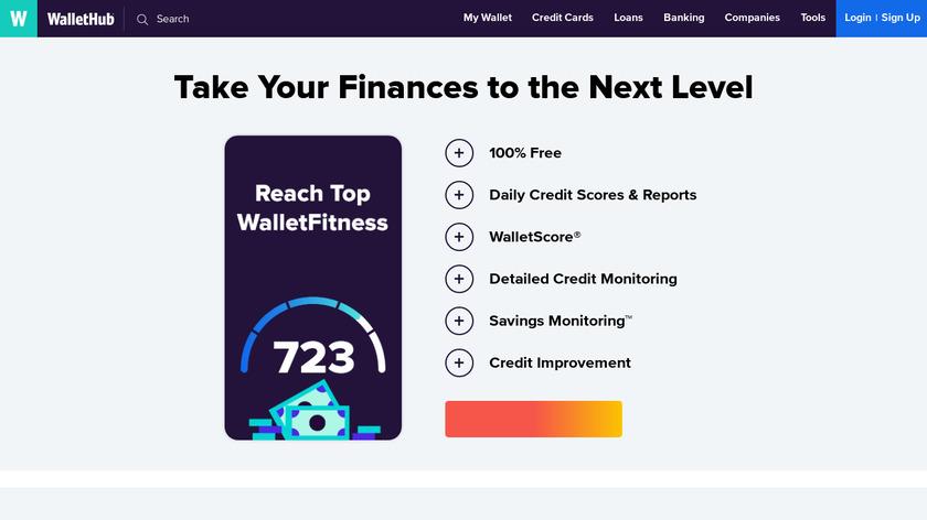 WalletHub Landing Page
