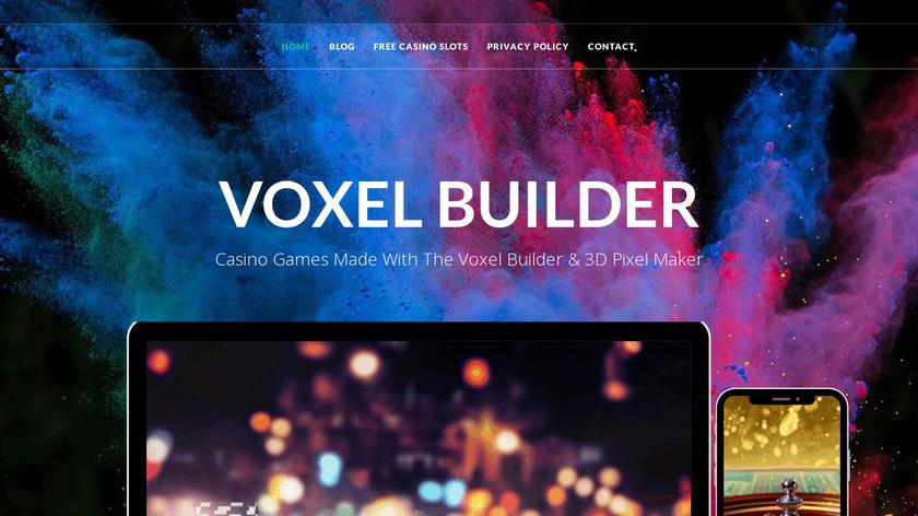 Voxel Builder Landing Page