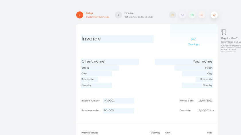 Invoice Template Landing Page