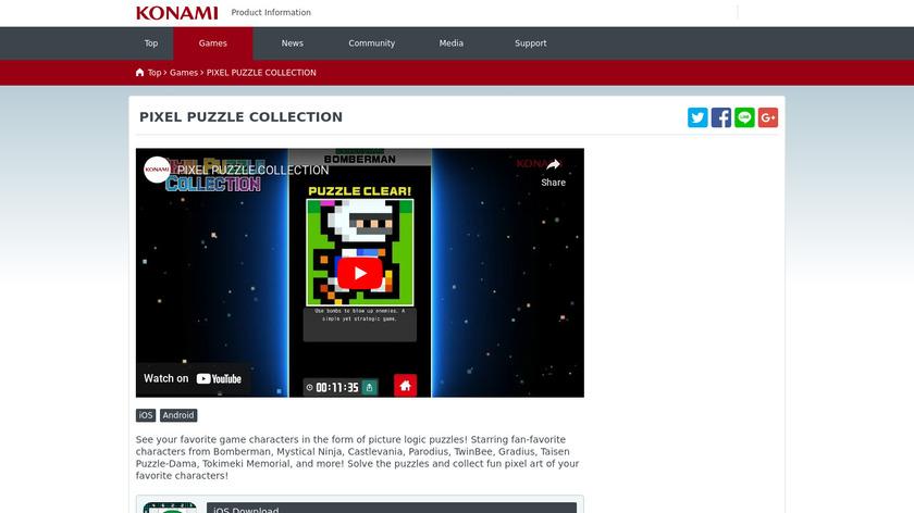 Pixel Puzzle Collection Landing Page