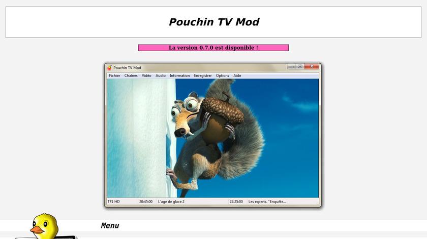 Pouchin TV Mod Landing Page