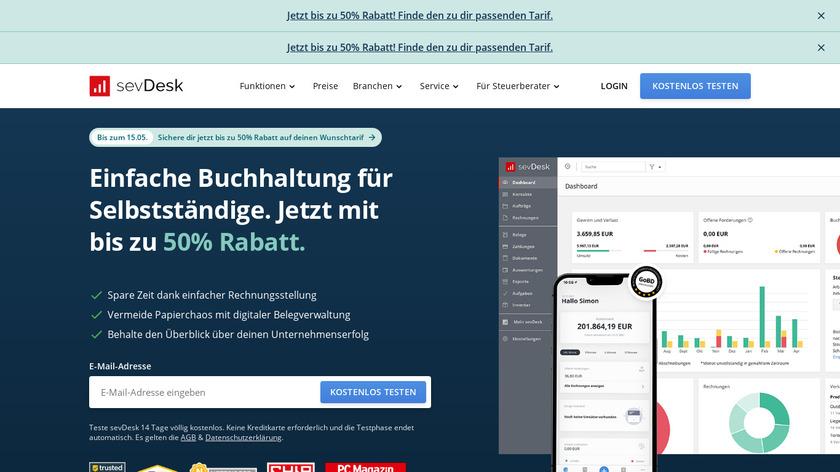 sevDesk Landing Page