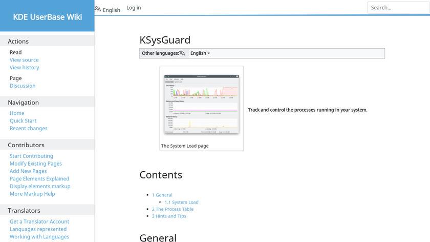 KSysGuard Landing Page