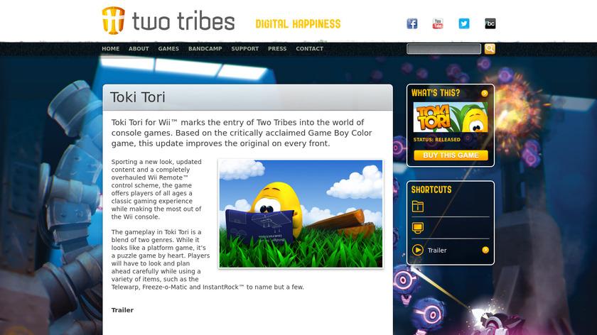 Toki Tori Landing Page