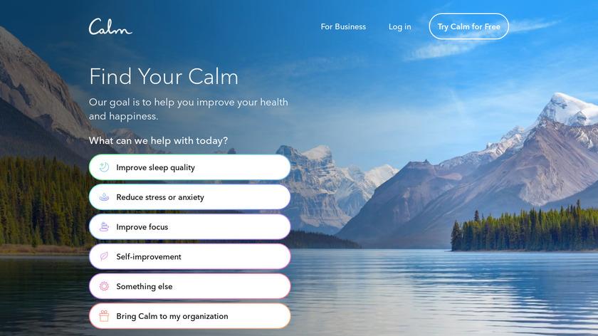 Calm.com Landing Page