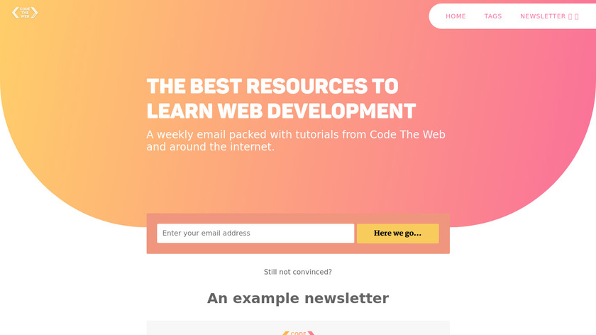 Code The Web Weekly Landing Page